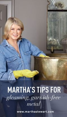 Martha's Tips for Gleaming, Garnish-Free Metal | Martha Stewart Living - Copper, brass, and silver pieces add warmth and elegance to any room. Over time, tarnish is inevitable—but it's easy to polish away. Follow a few simple tips to keep these metals looking their most lustrous.