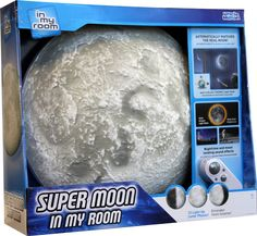 Amazon.com: Super Moon In My Room Remote Control Wall Décor Night Light with Sound: Toys & Games