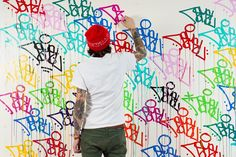 Artists working with the Paint Marker - Krink Graff City, Graffiti Supplies, Bold Colors, Colours, Typography, Lettering, Large Painting, Paint Markers, Artist At Work