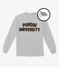 Large Black NCAA Purdue Boilermakers Mens School Name Script Tail Logo Choice Tee