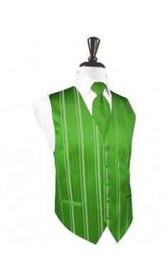 Kelly Striped Satin Tuxedo Vest