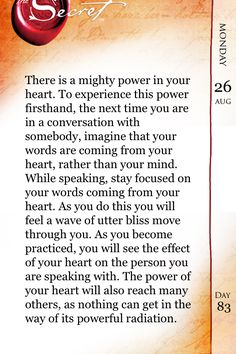 Day 15 (daily teaching): speak from your heart