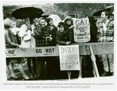 Post-Stonewall Riots 1971/72 #lesbian #lgbt