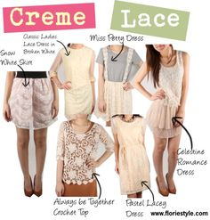 """""""Creme Lace"""" by floriestyle on Polyvore"""