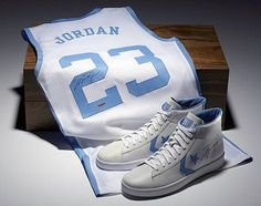Michael Jordan North Carolina Jersey and Shoes