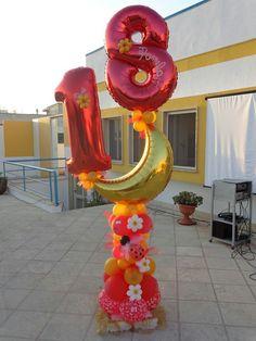 Combinação de cores para balão 18 anos