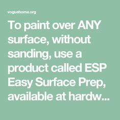 To paint over ANY surface, without sanding, use a product called ESP Easy Surface Prep, available at hardware and paint shops. Wipe on, wipe off and paint in 90 minutes. Works well over enamel paint , without having to sand. SAVES HOURS of work. It was recommended to me by a professional painter. - voguehome.org