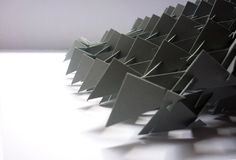 Form studies by niki dendel, via Behance FORM STUDIES - PAPER STRUCTURE   This project was a study about forms. The single element is a triangle. The structure is made up of paper triangles without any glue.