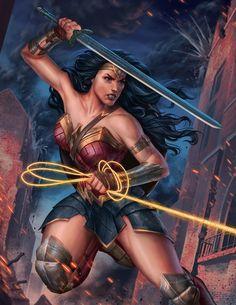 FANART: Wonder Woman by Brian Fajardo : DC_Cinematic