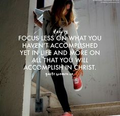 Keep your eyes on Jesus.