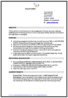Latest MBA HR Marketing Resume Sample In Word Doc Free  Resume In Word