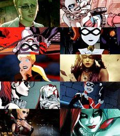 the many looks of Harley Quinn!