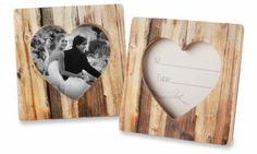 Faux-Wood Heart Place Card/Photo Frame would be nice to hand out as present for coming