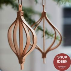 Homemade leather ornaments