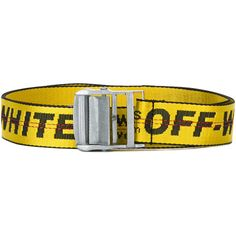 Off White Logo Print Belt ($125) ❤ liked on Polyvore featuring accessories, belts and off white belt