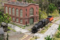 scale model trains scenery from http://modeltrainfigures.com