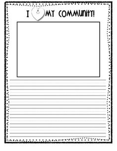 Community Unit Writing Prompts- GREAT for our social studies unit!!