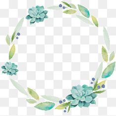 fresh and elegant watercolor wreath, Wreath, Ring, Decorative Frame PNG Image and Clipart Free Watercolor Flowers, Wreath Watercolor, Watercolor Background, Watercolor Paintings, Frame Floral, Flower Frame, Cactus Drawing, Drawing Flowers, Drawing Drawing