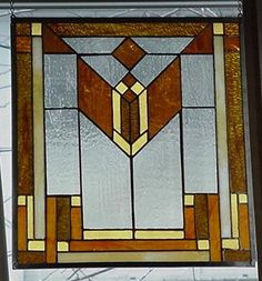 I love this window. It is based on a Frank Lloyd Wright piece.