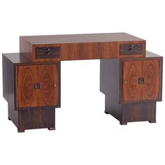 rosewood and macassar ebony art deco desk by t woonhuys amsterdam 1925 1stdibs