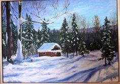 """Купить Картина маслом """"Зима на Таганае"""" в интернет магазине на Ярмарке Мастеров"""