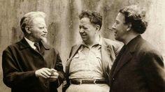 André Breton, Diego Rivera y León Trotsky