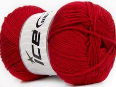 Baby AntiBacterial Dark Red knitting yarn from ice yarn