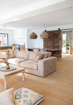 Gravity Home — Home on Ibiza Beige Living Rooms, Living Spaces, Home Design, Home Interior Design, Ibiza, Deco Boheme Chic, Zen House, Gravity Home, Indoor Outdoor Living
