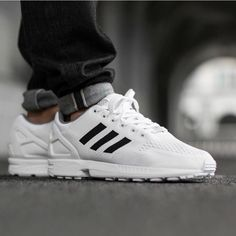 Adidas ZX Flux (white) || Follow @filetlondon for more street style #filetlondon