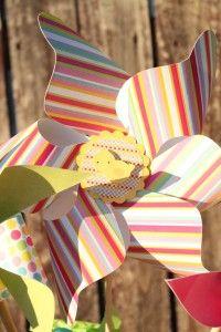Guest Blogger Tutorial: Paper Pinwheel Centerpiece - Dimple Prints