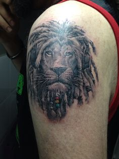 Rasta lion tattoo by asmodeo