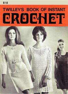 Genuine Vintage 'Twilleys' Book of Instant Crochet for Beginners Plus Dresses and Suit Crochet Booklet Vintage Knitting, Vintage Crochet, Crochet Cover Up, Crochet Tops, Crochet Clothes, Crochet Dresses, Plus Dresses, Easy Knitting, Crochet For Beginners