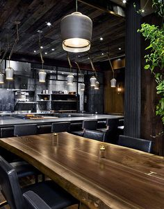 Atera Restaurant was designed by Parts and Labore in modern industrial style.