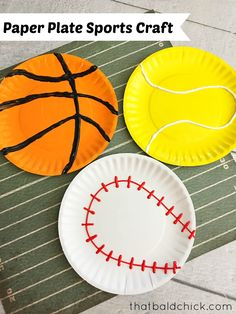 Best Sport Crafts For Kids Art Projects Paper Plates Ideas Art Activities For Toddlers, Preschool Arts And Crafts, Paper Plate Crafts For Kids, Paper Crafts, Camping Activities, Halloween Activities, Vbs Crafts, Spring Activities, Music Crafts