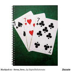 Blackjack 21 - Seven, Seven, Seven Notebook