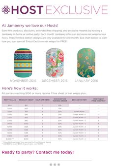 Want to get free Jamberry? Host a party. Contact me! https://www.facebook.com/groups/1506101419700132/
