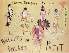 Croquis d'Yves Saint Laurent pour Roland Petit http://www.vogue.fr/thevoguelist/yves-saint-laurent/223