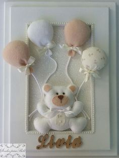 Baby Crafts, Felt Crafts, Diy And Crafts, Baby Kranz, Baby Sewing Projects, Felt Decorations, Baby Memories, Felt Patterns, Felt Toys