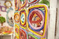 Ideias para fazer com jornal, decoração com jornal , decorar a casa com jornal, escultura de jornal para parede, reaproveitamento de jornal