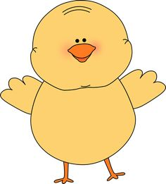 Cute Baby Chick Printable | Happy Easter Chick Clip Art Image - yellow Easter chick happy and ...