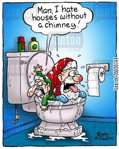 Uh oh Political Cartoons, Funny Cartoons, Funny Comics, Christmas Puns, Christmas Time, Christmas Ideas, Xmas Jokes, Funny Holiday Cards, Funny Pictures
