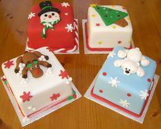 Miniature Christmas Cakes   by Rebecca's Tastebuds