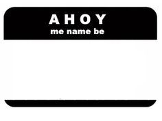 Pirate Name Tag