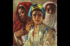 José Cruz Herrera, Three Moroccan Beauties. Est. €40,000-60,000. Photo: Sotheby's.