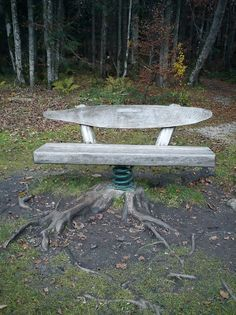 table in the woods