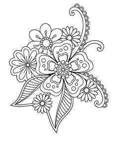 Ideas For Drawing Patterns Doodles Coloring Pages – Coloring Mandalas Free Adult Coloring Pages, Flower Coloring Pages, Mandala Coloring Pages, Coloring Book Pages, Flower Henna, Flower Mandala, Doodle Pictures, Doodle Coloring, Mandala Drawing