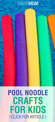 Pool Noodle Crafts For Kids!!!!! These are great:)