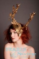 Narnia – Gold Deer Antlers Headdress, Pearls and Swine, Pearls & Swine, Whimsical, Fairytale, Fancy Dress, Dressing Up, Artistic, One of a Kind, Magical, Metallic, Handmade, Lace, Crystals, Stars, Butterflies, Beads, Gold Pearls, Fringe Beading, Vintage-esque Gold Fabric, Wearable Art, Stunning, Animal, Milliner, Millinery, Pop Surreal, Hand Crafted, Hair Accessory, Yesteryear, Dazzling, Over the Top, OTT, Occasion Wear, Grand National, Royal Ascot, Ladies Day, Fantasy, Avant Garde