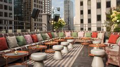 new york rooftop bars phd terrace dream midtown New York Rooftop Bar, Best Rooftop Bars, Rooftop Terrace Design, Terrace Ideas, Terrace Restaurant, New York City Travel, Paris Travel, Art Deco, Pergola Attached To House