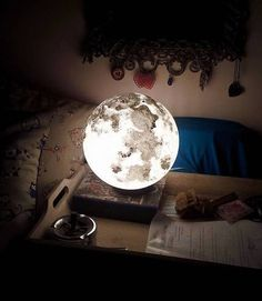 Pulsar Moonlight brings the beauty of outer space into your home with their moonlight lamp.